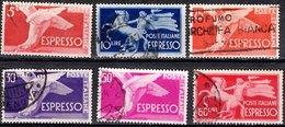 ITALY 1945 EXPRESS 5l,10l, 25l, 30l, 50l, 60l Used - 1900-44 Vittorio Emanuele III