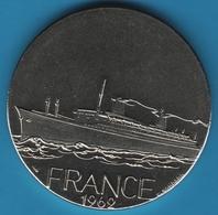 Médailles  Les Grands Transatlantiques Monnaie De Paris France 1962 - Professionals / Firms