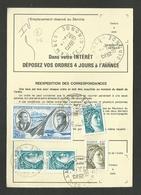 Lettre - Ordre De Réexpédition CAMBES - GIRONDE 10.04.1982 / Tarif 36F / Combinaison Avec Poste Aérienne - 1977-81 Sabine De Gandon