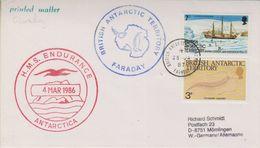 British Antarctic Territory 1987 HMS Endurance / Faraday Ca 25 Ja 87 Faraday (38403) - Brits Antarctisch Territorium  (BAT)