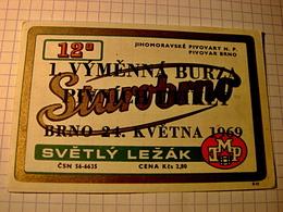 Old Bier, Beer-Etikett /BRNO Starobrno 12%/Beer Label Exchange 1969/CSSR/Czechoslovakia/644 - Beer