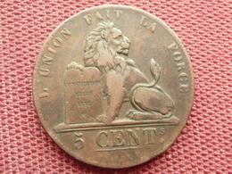 BELGIQUE Monnaie De 5 Cts 1837 Très Bon état - 1831-1865: Leopold I
