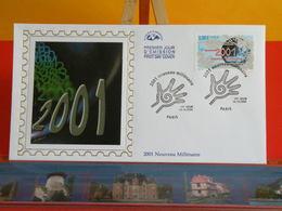 FDC> 2001 Nouveau Millénaire > 14.10.2000 (75) Paris> 1er Jour Coté 3€ - FDC