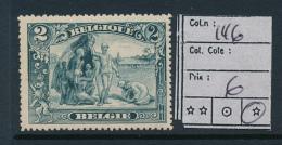BELGIUM BELGIQUE COB 146 LH - 1915-1920 Albert I