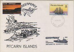 Ross Dependency 1991 Greenpeace  M.V. Gondwana  Ca 11 May Pitcairn Islands(38407) - Pitcairneilanden