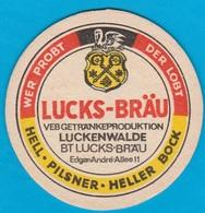 Luckenwalder Spezialitätenbrauerei Luckenwalde( Bd 1643 ) - Beer Mats