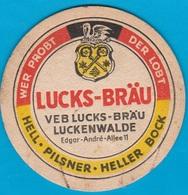 Luckenwalder Spezialitätenbrauerei Luckenwalde( Bd 1644 ) - Beer Mats