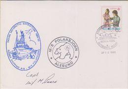 Norway Antarctica 1990 Ca Indian Ant. Expedition, M/S Polarbjorn, Si Captain, Ca Rompehielos, 27 Ene 1990 Cover (38408) - Poolshepen & Ijsbrekers