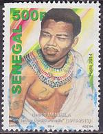 Timbre Oblitéré Sénégal 2014 - Nelson Mandela, Voir Description - Senegal (1960-...)