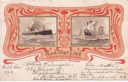 Antwerpen - New-York; Antwerpen - Boston ; Red Star Line - Steamer Vaderland - Antwerpen