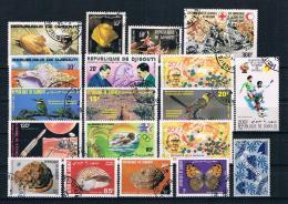 Dschibuti Posten/Lot -  18 Werte Gestempelt - Djibouti (1977-...)