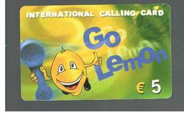ITALIA (ITALY) - REMOTE -  GO LEMON  5,00 EURO   - USED - RIF. 10947 - Italy
