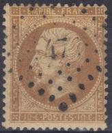 Dentelé N°21 : Oblitération PC 47 (ou PC Du GC) - 1862 Napoléon III