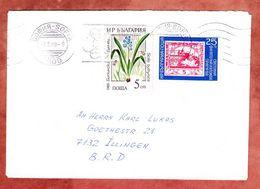 Brief, MiF Blaustern U.a., Bandstempel Sofia, Nach Illingen 1989 (50226) - Cartas