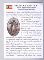 SANTA FERMINA..FIRMINA..CIVITAVECCHIA....SANTINO..HOLY CARD..SANTINI... - Religión & Esoterismo