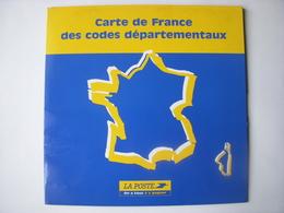 PTT - LA POSTE - CARTE DE FRANCE DES CODES DEPARTEMENTAUX - Pubblicitari