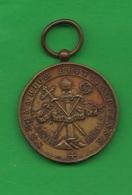 Medaglia Religiosa Medal Religion Religion Médaille  Virtute Praemium Medalla Religión XIX Siècle - Religion & Esotericism