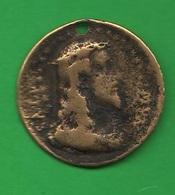Medaglia Religiosa Medal Religion Religion Médaille  Jésus Et La Sainte Vierge Medalla Religión XVIII Siècle - Religión & Esoterismo