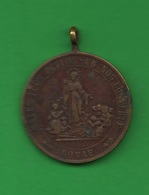 Medaglia Religiosa Medal Religion Religion Médaille Dévotion à La Madone  Medalla Religión XIX Siècle - Religión & Esoterismo