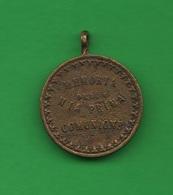 Medaglia Religiosa Medal Religion Religion Prima Comunione  Medalla Religión XIX Siècle - Religion & Esotericism