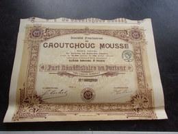 Française Du CAOUTCHOUC MOUSSE (1920) - Shareholdings
