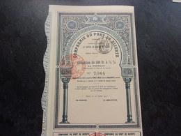 COMPAGNIE DU PORT DE BIZERTE (tunisie) 1912 - Shareholdings