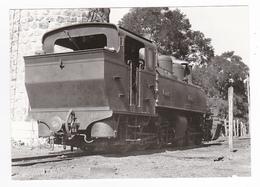 CPM TRAIN VOIR DOS 43 Dunières Vers Yssingeaux Locomotive Vapeur Mallet CFD N°411 Qui Fait De L'eau En 1946 - Yssingeaux