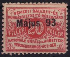 "1893 Hungary Austria KuK K.u.K  - NEMZETI ""national"" Insurance REVENUE TAX Stamp LABEL VIGNETTE  - Used - Revenue Stamps"