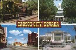 72556437 Carson City Nevada Glenbrook Locomotive Teilansicht State Capitol Goven - Stati Uniti