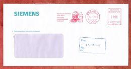 Brief, Francotyp-Postalia F68-4172, Werner Von Siemens, 100 Pfg, Berlin 1993 (50239) - BRD