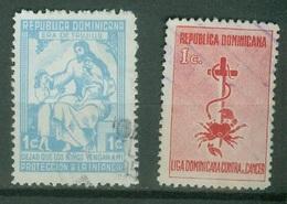 Amériques - République Dominicaine  - Bienfaisance Scott RA13 RA15 Protection Enfance Lutte Contre Le Cancer 1953 - Dominican Republic