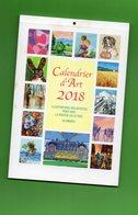 DT213 UN CALENDRIER D'ART 2018 COULEUR NEUF AVEC UN SUPPORT CARTONNE A L'INTERIEUR - Calendars