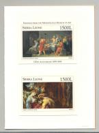 Sierra Leone #1873-1876 Art 4v S/S Imperf Chromalin Proofs In 2v Folders - Sierra Leone (1961-...)