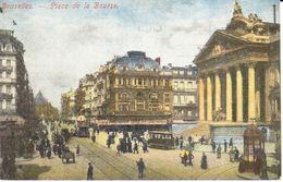 Bruxelles - CPA - Brussel - Place De La Bourse - Places, Squares