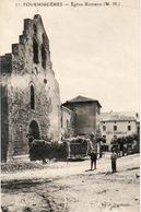 FORMIGUERES église Romane Et Le Café SOUBIELLE - Autres Communes