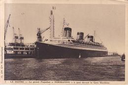 Le Grand Paquebot NORMANDIE  1936 - Dampfer