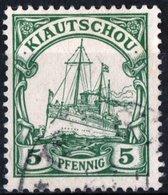 KIAUCHAU, CINA, CHINA, OCCUPAZIONE TEDESCA, GERMAN OCCUPATION, NAVI, 1901, FRANCOBOLLI USATI Michel 6    Scott 11 - Colonie: Kiautchou