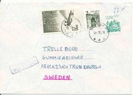 Poland Cover Sent To Sweden 19-1-1984 (the Flap On The Backside Of The Cover Is Missing) - 1944-.... Republic
