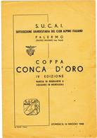 V 52 Coppa Conca D'Oro 1948 - Programmi