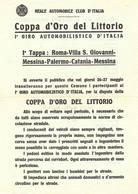 V 54 Coppa D'Oro Del Littorio - Programmi