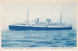 POSTAL DEL BARCO ASTURIAS (BARCO-SHIP) SOUTH AMERICAN SERVICE - Comercio