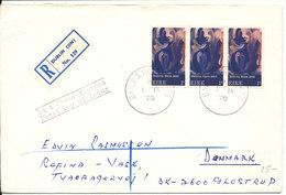 Ireland FDC Madonna Mainie Jellet 3 Stripe  1-9-1970 Sent To Denmark - FDC