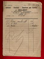 Bon De Livraison Confiserie Biscuiterie Fournitures Epicerie Amalbert Succ. Escudier Aix En Provence Mr Vidal 31-10-1929 - Alimentare