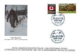 1995  RCMP Centennial Patrol - Carried By Dog Sled Dawson YK To Fort McPherson NT  S16 - Gedenkausgaben