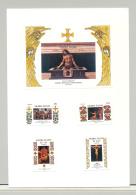 Sierra Leone #685-689 Easter Art 4v & 1v S/S Imperf Proofs On 1v Card - Sierra Leone (1961-...)