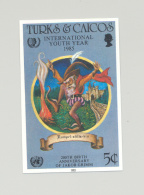 Turks & Caicos #674 Youth Year, UN, Grimm Fairy Tales 1v Imperf Proof - Turks And Caicos