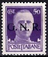 ITALIAN SOCIAL REPUBLIC 1944 Imperial Definitive 50c Overprinted GNR Mint - 1944-45 République Sociale