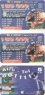 3-CARTES-PREPAYEES-2000-SWIFTEL-ASIE-KOWEIT-DIFFERENTES-Plastic Fin-TBE-RARE - Kuwait