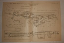 Plan Du Chemin De Fer Métropolitain De Paris.Ligne N°5 De La Gare Du Nord Au Pont D'Austerlitz. 1908 - Public Works