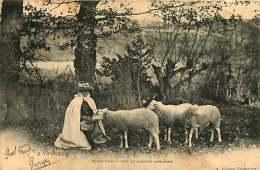 240418 - 87 EYMOUTIERS Type De Bergère Limousine - Mouton Berger Pâtre - Eymoutiers